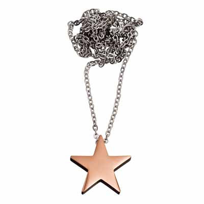Edblad Star Large Thin Rose Gold Necklace