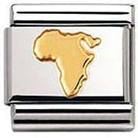 Nomination Charm Africa Gold