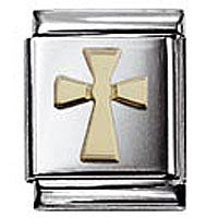 Nomination Gold Cross Charm Big