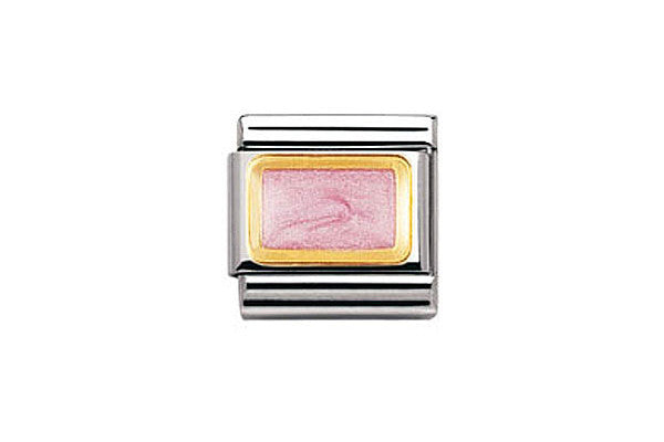 Nomination Charm Pink Glitter Rectangle