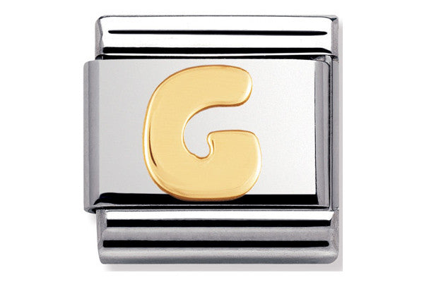 Nomination Charm Letter G - Gold