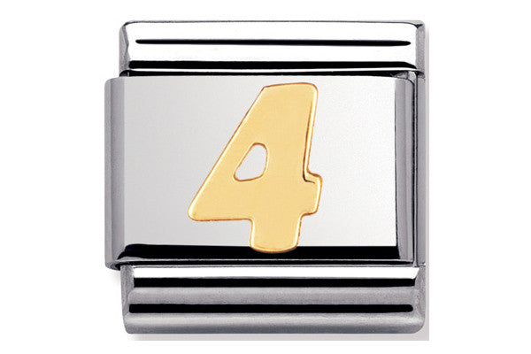 Nomination Charm Gold Number 4