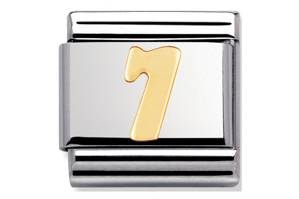 Nomination Charm Gold Number 7