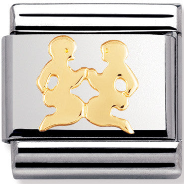 Nomination Charm Gold Gemini Star Sign