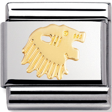 Nomination Charm Gold Leo Star Sign