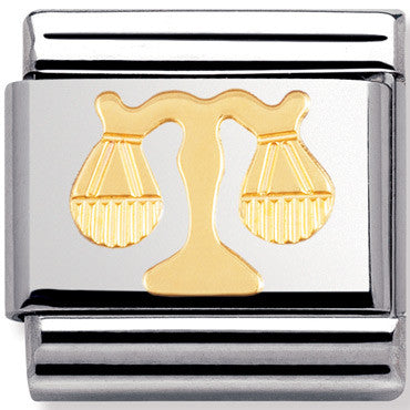 Nomination Charm Gold Libra Star Sign