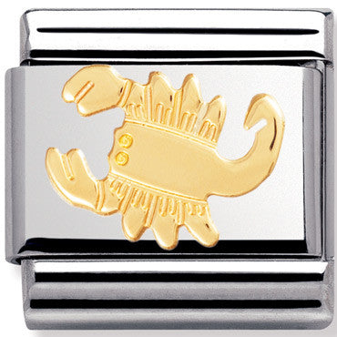 Nomination Charm Gold Scorpio Star Sign