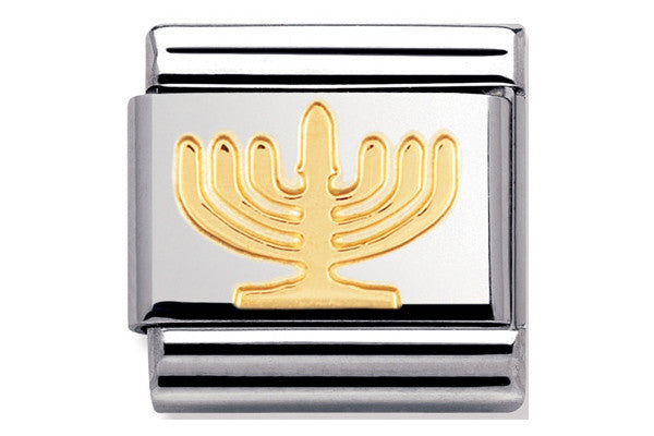 Nomination Charm Gold Hanukkah