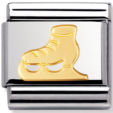 Nomination Charm Gold Ice Skate