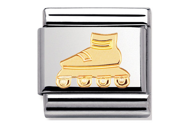 Nomination Charm Gold Rollerblade