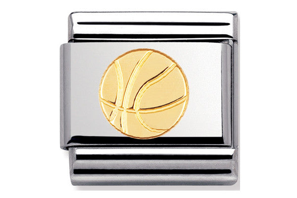 Nomination Charm Basketball Gold