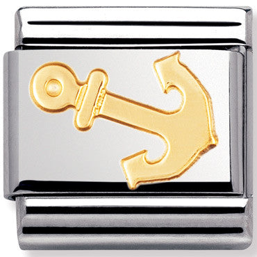 Nomination Charm Anchor Gold