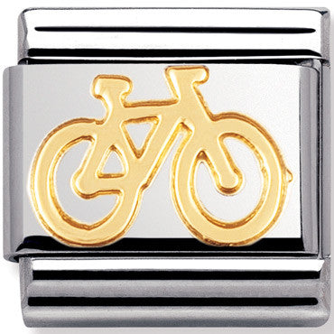 Nomination Charm Gold Bike