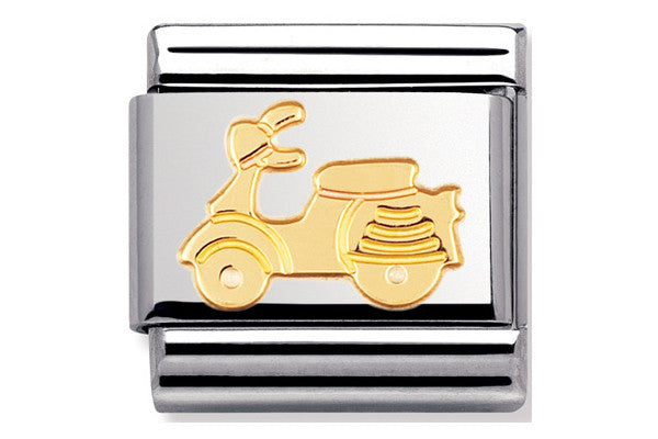 Nomination Charm Gold Scooter