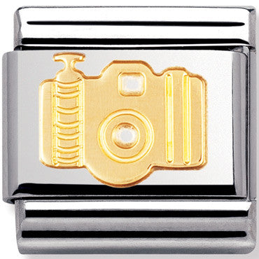Nomination Charm Gold Camera