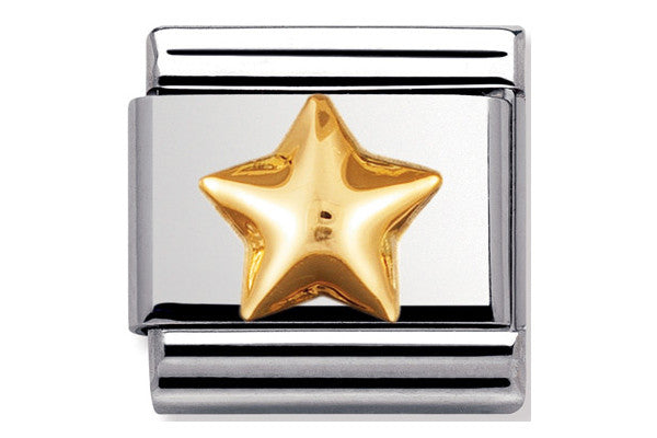 Nomination Charm Gold Raised Star