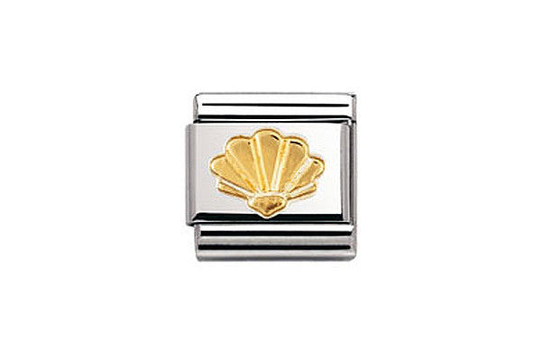 Nomination Charm Gold Shell