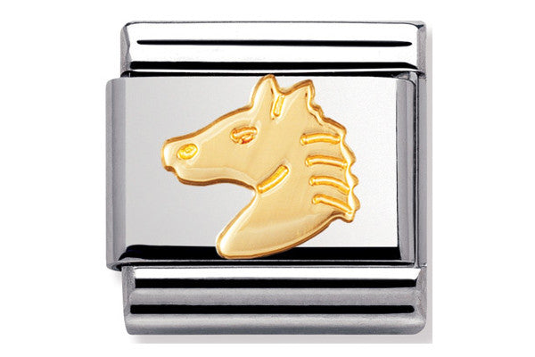 Nomination Charm Gold Horse Head