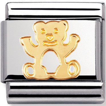 Nomination Charm Gold Bear