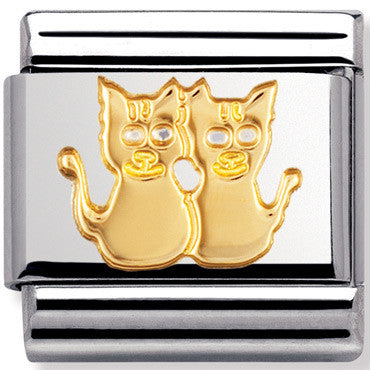 Nomination Charm Gold Cats