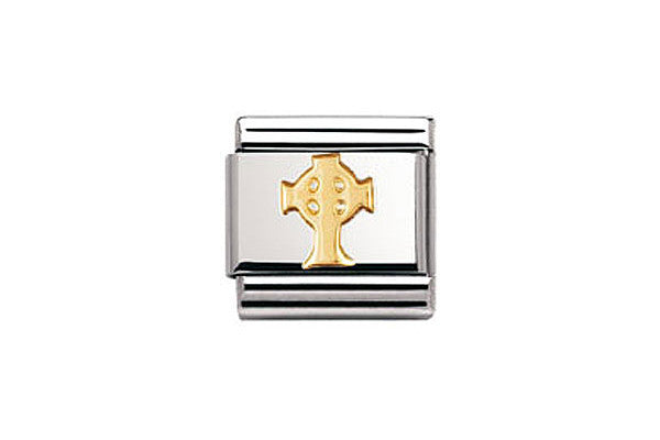 Nomination Charm Gold Celtic Cross