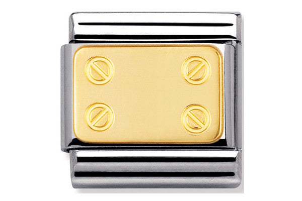 Nomination Charm Screw Plate Gold