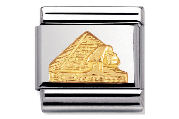 Nomination Charm Pyramids, Gold Relief