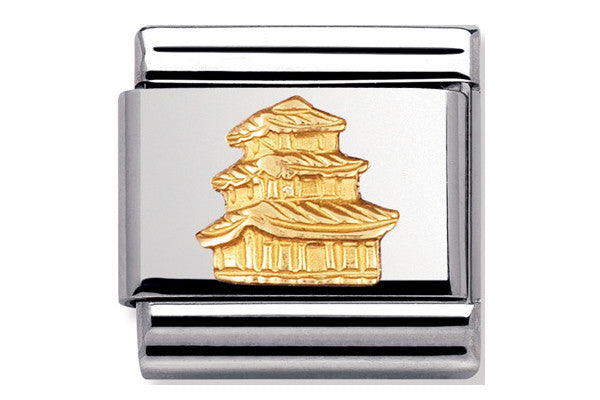 Nomination Charm Pagoda, Gold Relief