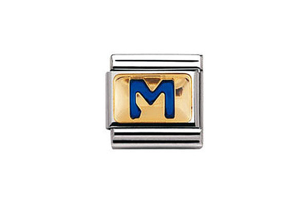 Nomination Charm Blue Letter M