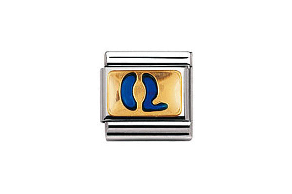 Nomination Charm Blue Letter Q