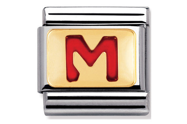 Nomination Charm Red Letter M