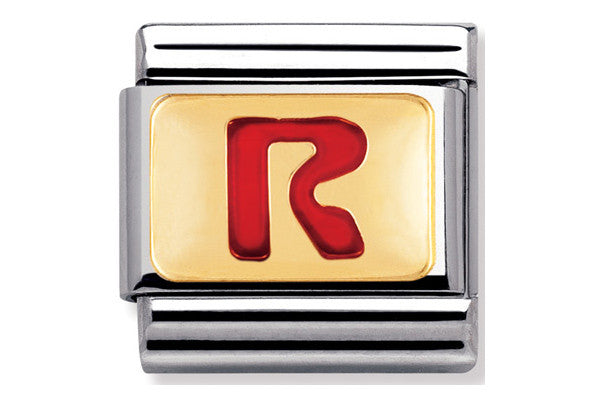 Nomination Charm Red Letter R