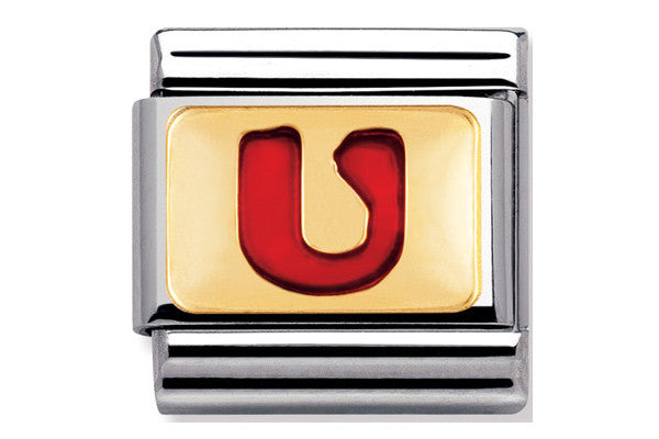 Nomination Charm Red Letter U
