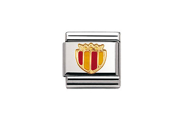 Nomination Charm Enamel Yellow And Red Shield