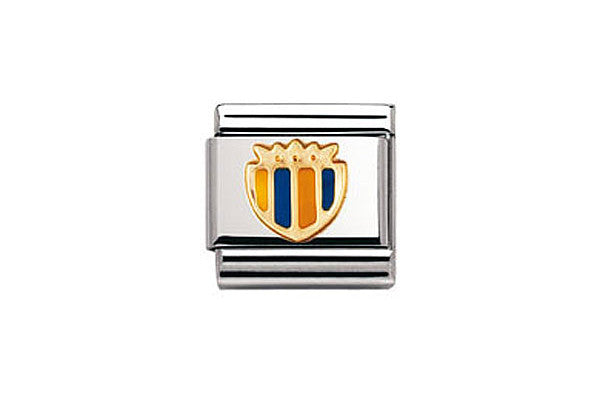 Nomination Charm Enamel Yellow And Blue Shield