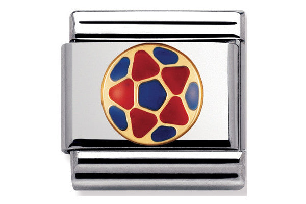 Nomination Charm Enamel Red And Blue Football
