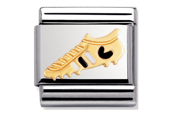 Nomination Charm White And Black Football Boot