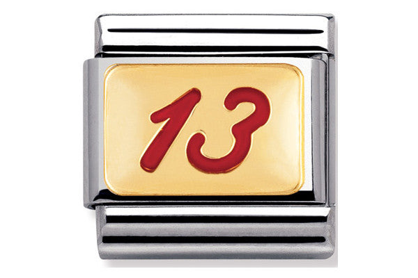 Nomination Charm Red Enamel No. 13