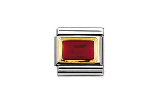 Nomination Charm Red Rectangle