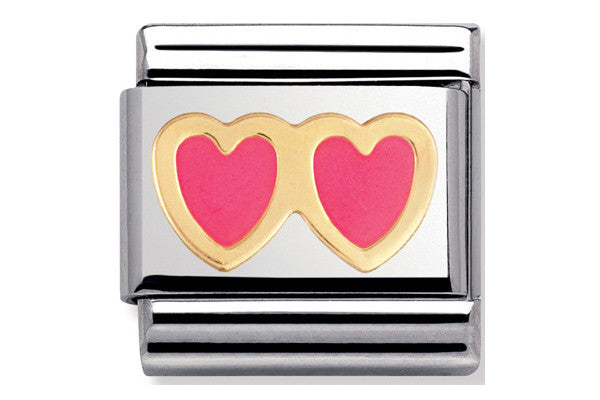 Nomination Charm Pink Hearts