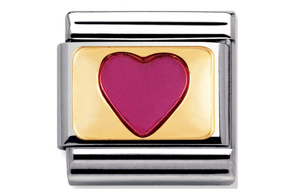 Nomination Charm Fushia Enamel Heart