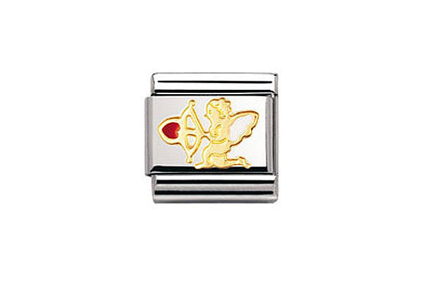 Nomination Charm Cupid Enamel Heart