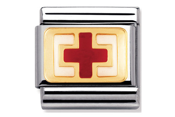 Nomination Charm Enamel Red Cross