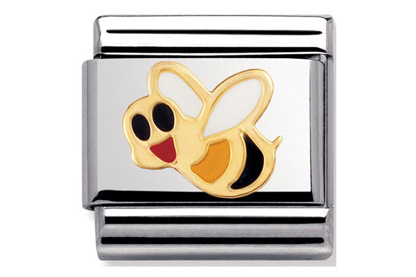 Nomination Charm Enamel Bee