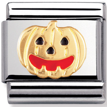 Nomination Charm Enamel Pumpkin
