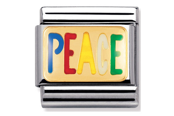 Nomination Charm Enamel Peace