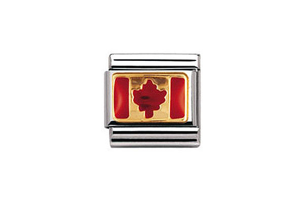 Nomination Charm Canada Flag