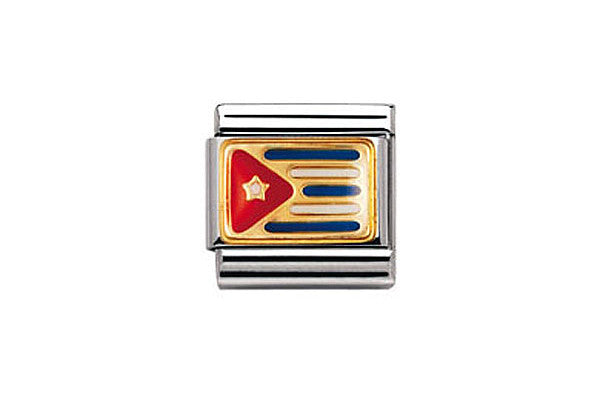 Nomination Charm Cuban Flag