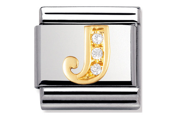 Nomination Charm Gold Cz Letter J