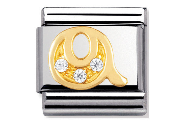 Nomination Charm Gold Cz Letter Q